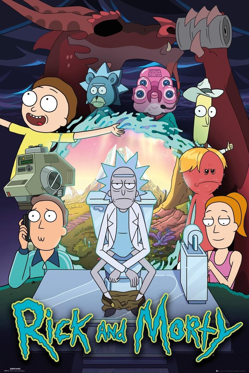 Affiche Rick and Morty saison 4