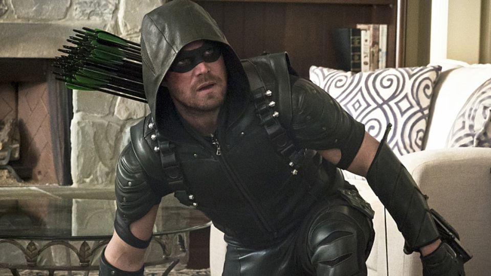 Oliver, en mode Green Arrow