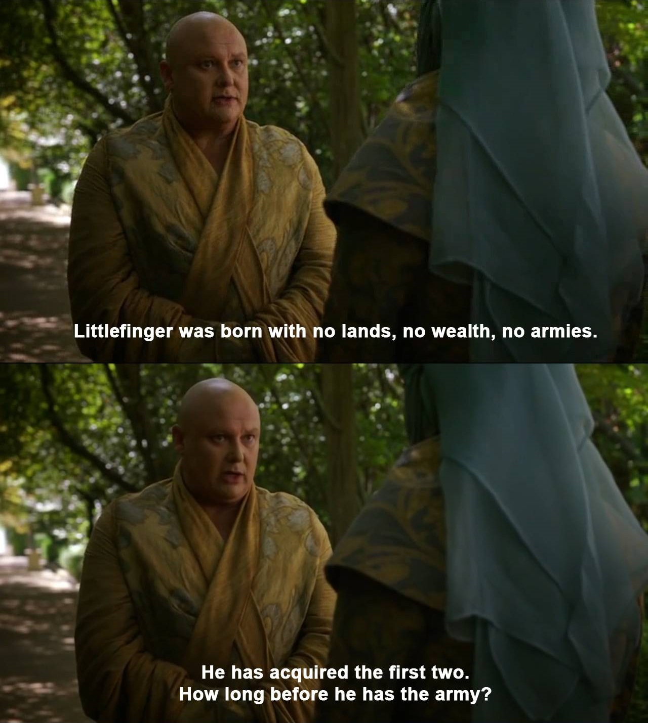 Varys fait des suppositions sur Littlefinger