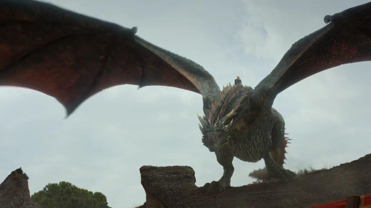 Dany sur son dragon