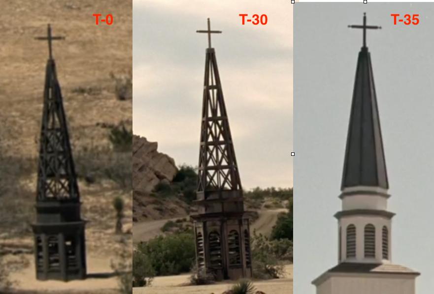 Les trois églises de Westworld