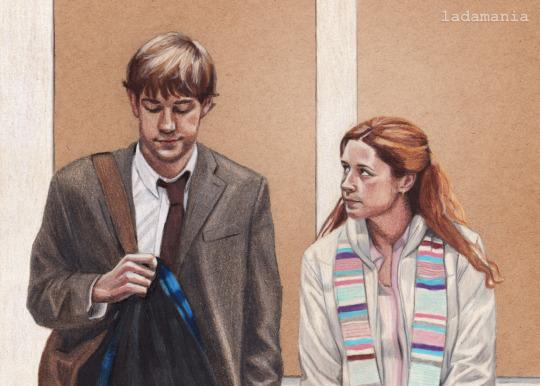 Un fan-art de Jim et Pam