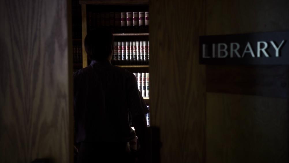 Jimmy à la bibliothèque