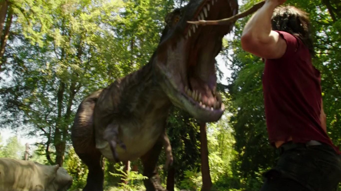 Un dinosaure (et Ray Palmer)