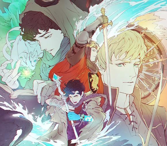 Fan-art de Merlin et Arthur