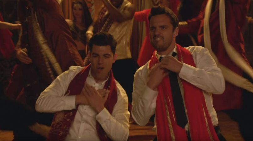 Schmidt et Nick, en train de danser