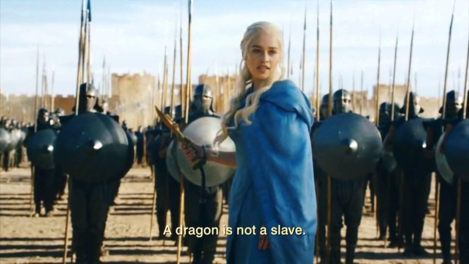 Un dragon n'est pas un esclave