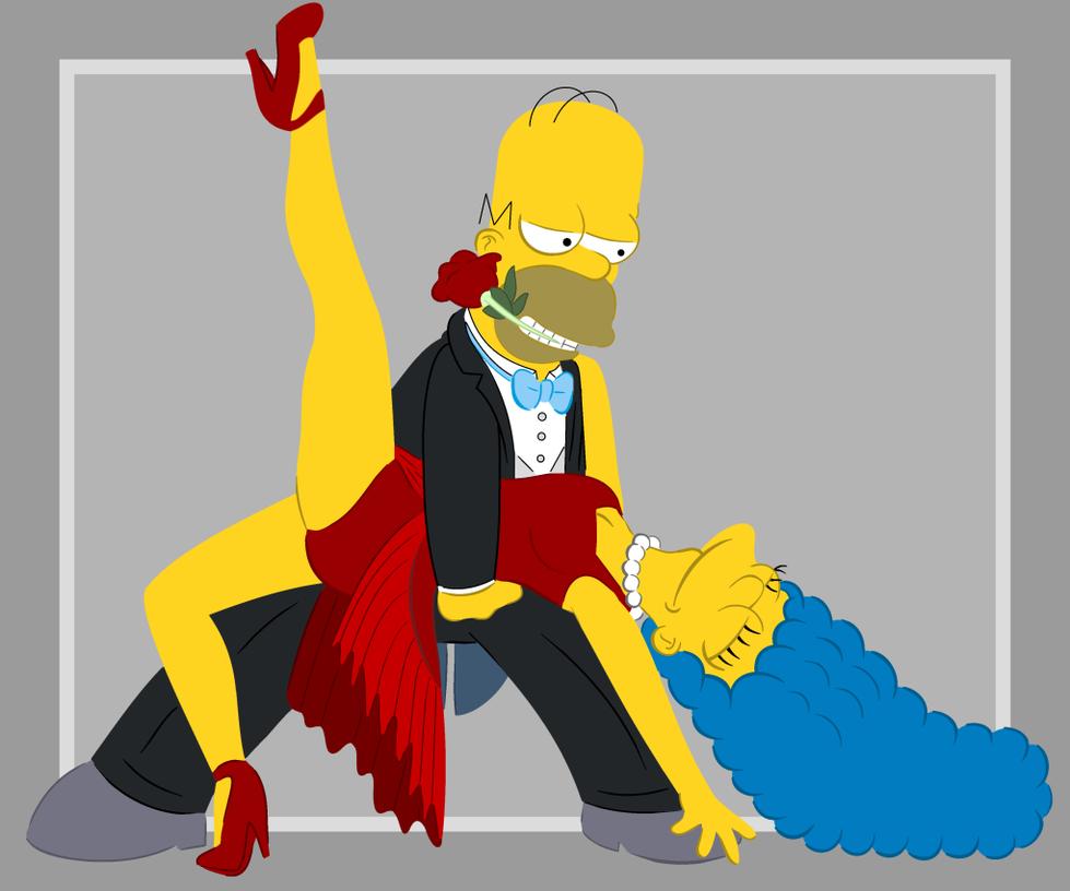 Homer et Marge, dansant le tango