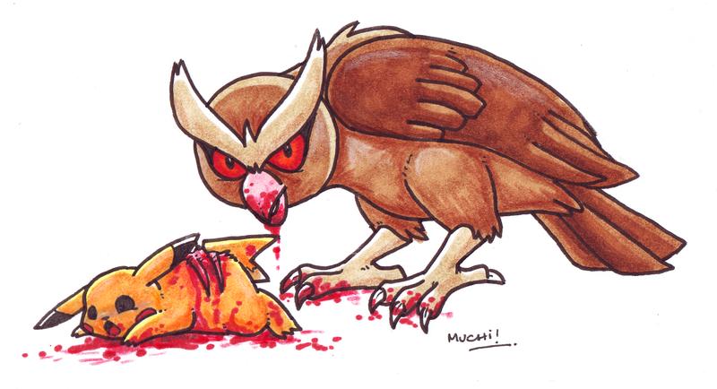 Fonz Vrickavrack défavorable : Pikachu attaqué par un aigle