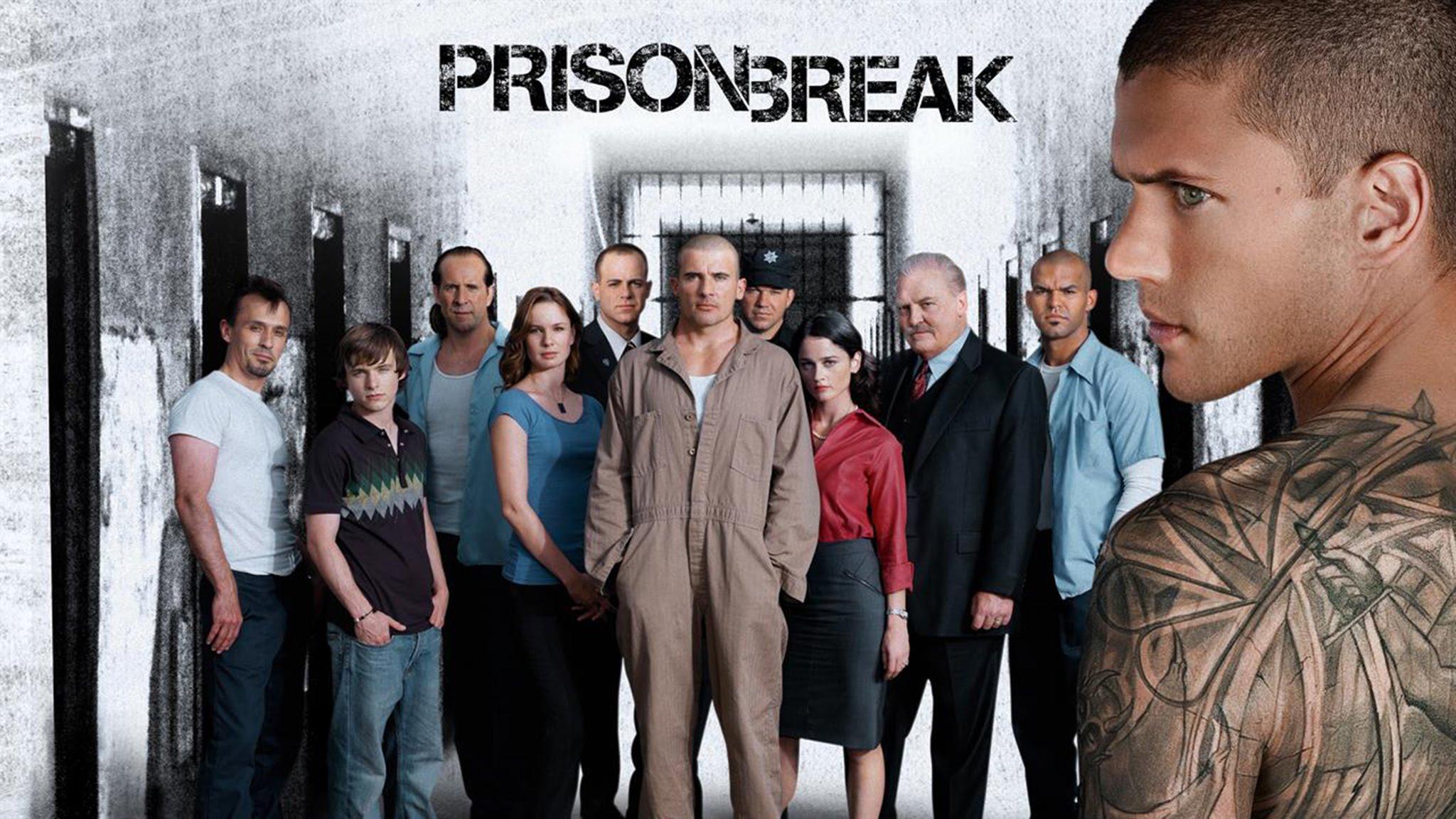 Affiche avec tous les acteurs de Prison Break