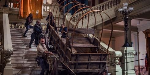 The Walking Dead 9.01 : charrette