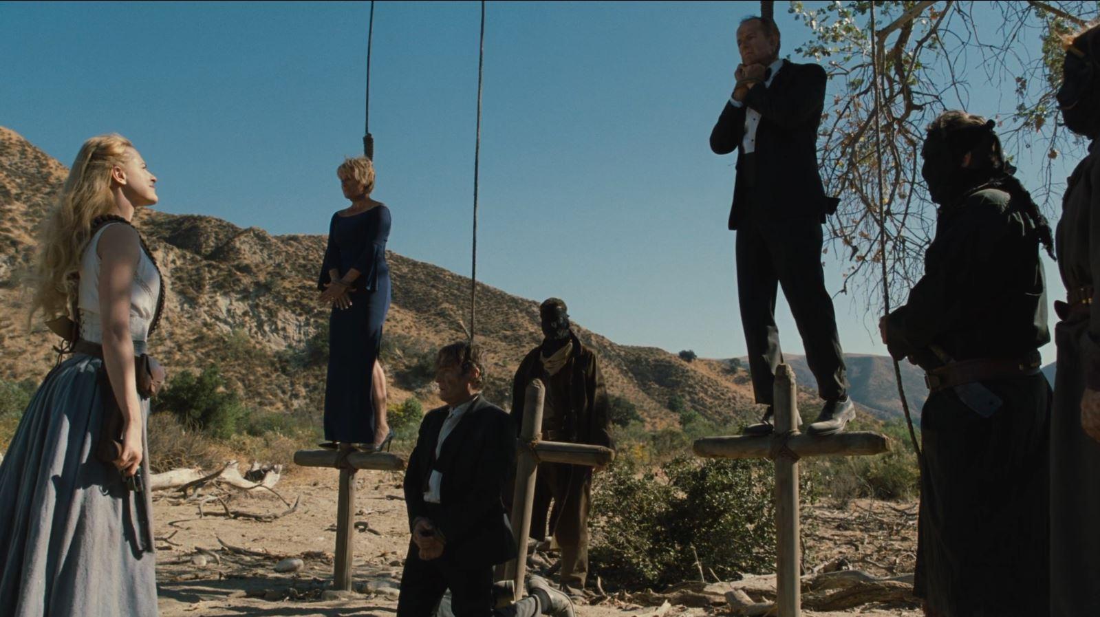 Scène de pendus dans Westworld