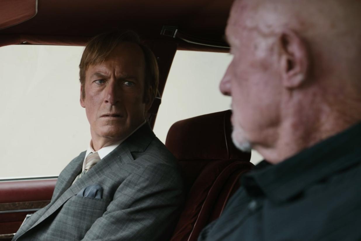 Saul et Mike dans la voiture
