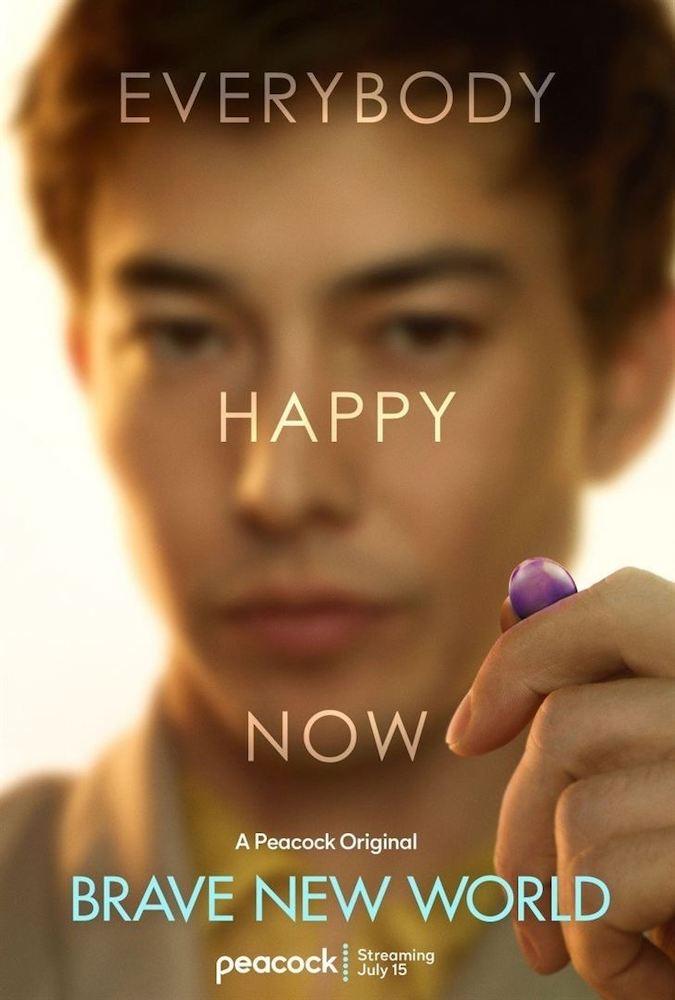 Affiche promotionnelle de la série avec Henry qui tend un Soma violet.