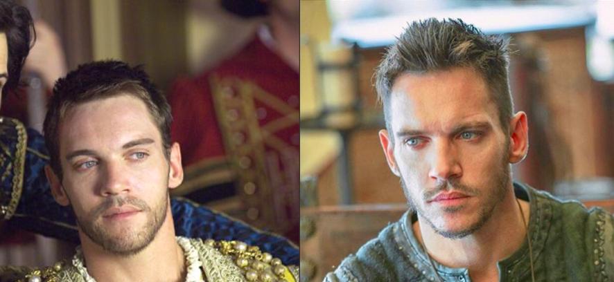 Images de Jonathan Rhys Meyer : à gauche dans The Tudors, à droite dans Vikings.
