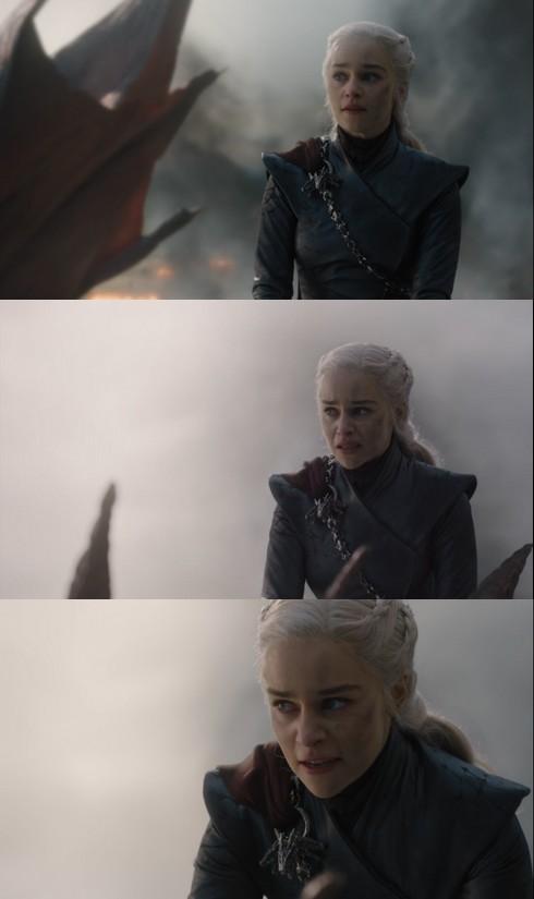 Les cloches et Daenerys en trois plans