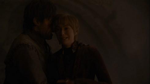 Jaime et Cersei sous les gravats