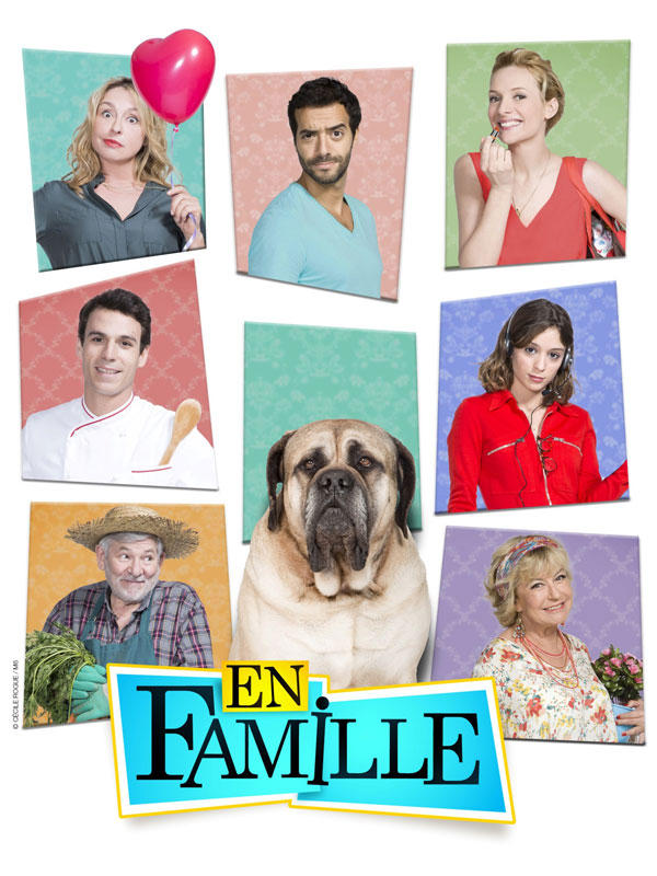 Affiche de la série avec toute la famille