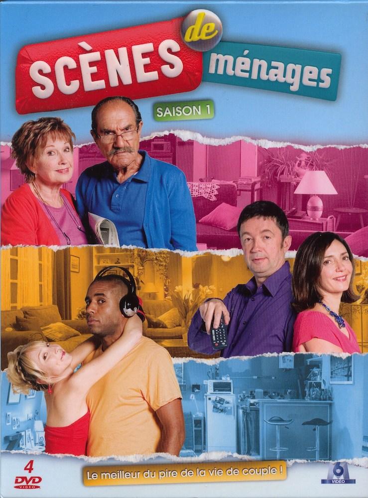 Image du DVD de la saison 1 avec les trois couples de Scènes de ménages