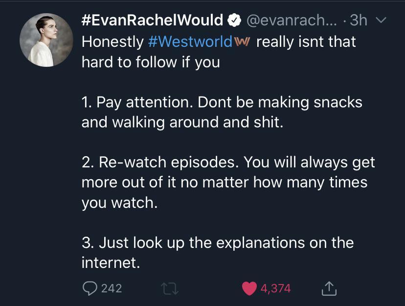 Tweet de Evan Rachel Wood