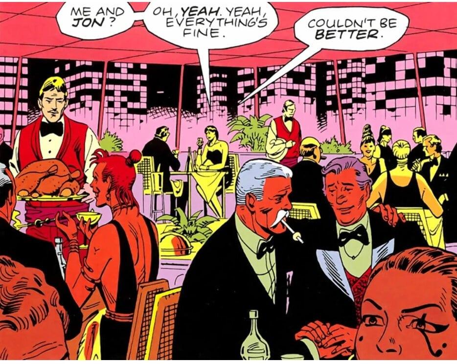 Une case du premier chapitre de Watchmen